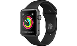 Apple Watch Series 3 42mm Grey Sport Band Black