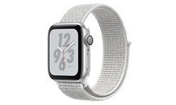 Apple Watch Nike+ Series 4 40mm Silver Sport Loop Hail White