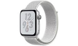 Apple Watch Nike+ Series 4 44mm Silver Sport Loop Hail White