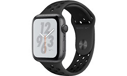 Apple Watch Series 4 Nike+ 44mm Silver Sport Band Black