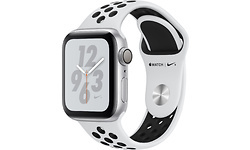 Apple Watch Nike+ Series 4 40mm Silver Sport Band Black/Platin