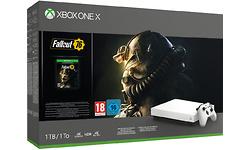 Microsoft Xbox One X 1TB White + Fallout 76