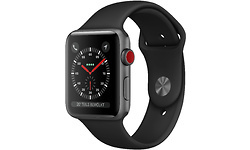 Apple Watch Series 3 4G 42mm Space Grey Sport Band Black