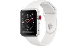 Apple Watch Series 3 4G 38mm Silver Sport Band White