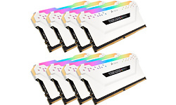 Corsair Vengeance RGB Pro White 128GB DDR4-2666 CL16 octo kit