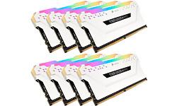 Corsair Vengeance RGB Pro White 128GB DDR4-3000 CL16 octo kit