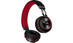 SBS DJ UP Wireless Headphones Black/Red