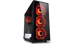 Sharkoon TG4 Red LED Window Black