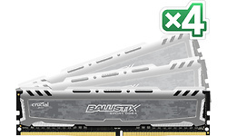 Crucial Ballistix Sport LT Grey 64GB DDR4-2400 CL16 quad kit