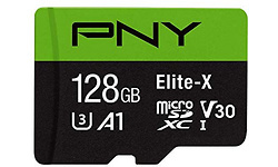 PNY Elite-X 128GB MicroSDXC UHS-I U3 128GB + Adapter