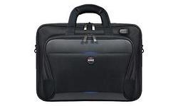 "Port Designs Chicago Evo Toploading Briefcase 15"" Black"