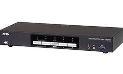 Aten CS1944DP KVM / audio / USB switch 4 x KVM / audio 4 lokale gebruikers desktop