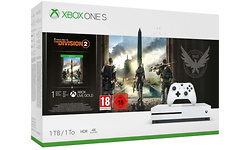 Microsoft Xbox One S White 1TB + Tom Clancy's The Division 2