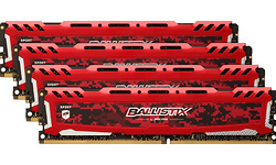 Crucial Ballistix Sport LT Red 64GB DDR4-3200 CL16 quad kit