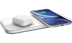 Zens Wireless Charger Dual 10W Aluminium White