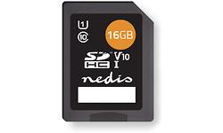 Nedis Geheugenkaart SDHC 16GB Tot 80 Mbps schrijven
