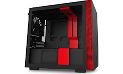 NZXT H210 Window Black/Red