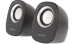 Sweex Speaker 2.0 4W Black/Silver