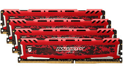 Crucial Ballistix Sport LT Red 32GB DDR4-3000 CL16 quad kit