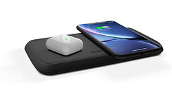 Zens Dual Fast Aluminium Wireless Charger 2 x 10W Black