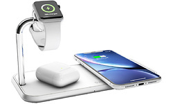 Zens Wireless Charger Dual + Watch 10W Aluminium White