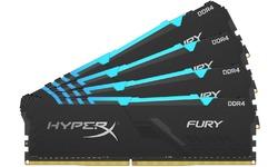Kingston HyperX Fury RGB Black 64GB DDR4-3000 CL15 quad kit