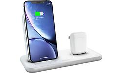 Zens Wireless Charger Dual + Dock 10W Aluminium White