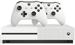 Microsoft Xbox One S 1TB White + 2 Controller