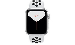 Apple Watch Nike Series 5 40mm Silver Sport Band Black/White