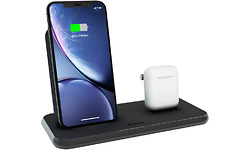 Zens Wireless Charger Dual + Dock 10W Aluminium Black