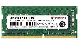 Transcend JetRam 16GB DDR4-2666 CL19 Sodimm (JM2666HSB-16G)