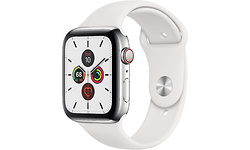Apple Watch Series 5 4G 44mm Silver Sport Band White