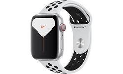 Apple Watch Nike Series 5 4G 44mm Silver Sport Band Black/White