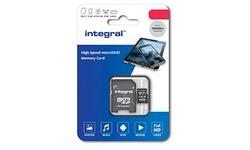 Integral MicroSDHC UHS-I 16GB + Adapter