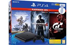 Sony PlayStation 4 Slim 500GB Black + 3 Hits Bundel