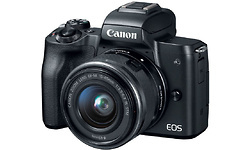 Canon EOS M50 Black + 15-45 IS STM + 50mm f/1.8 + M-Mount Adapter
