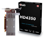 Club 3D Radeon HD 4350 512MB videokaart - Hardware Info