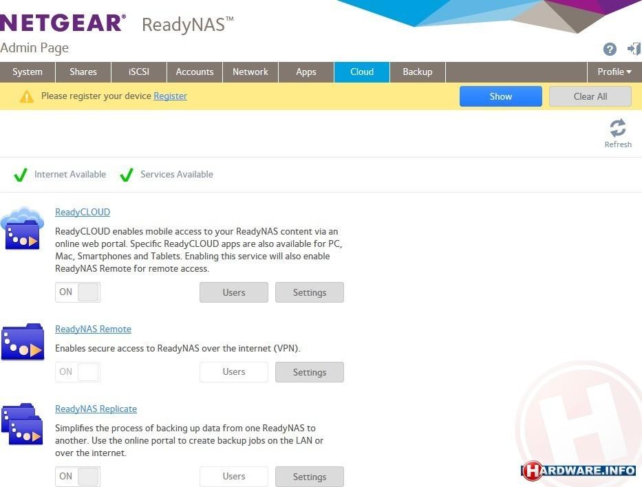 Netgear ReadyNAS 2120 v2 nas device - Hardware Info