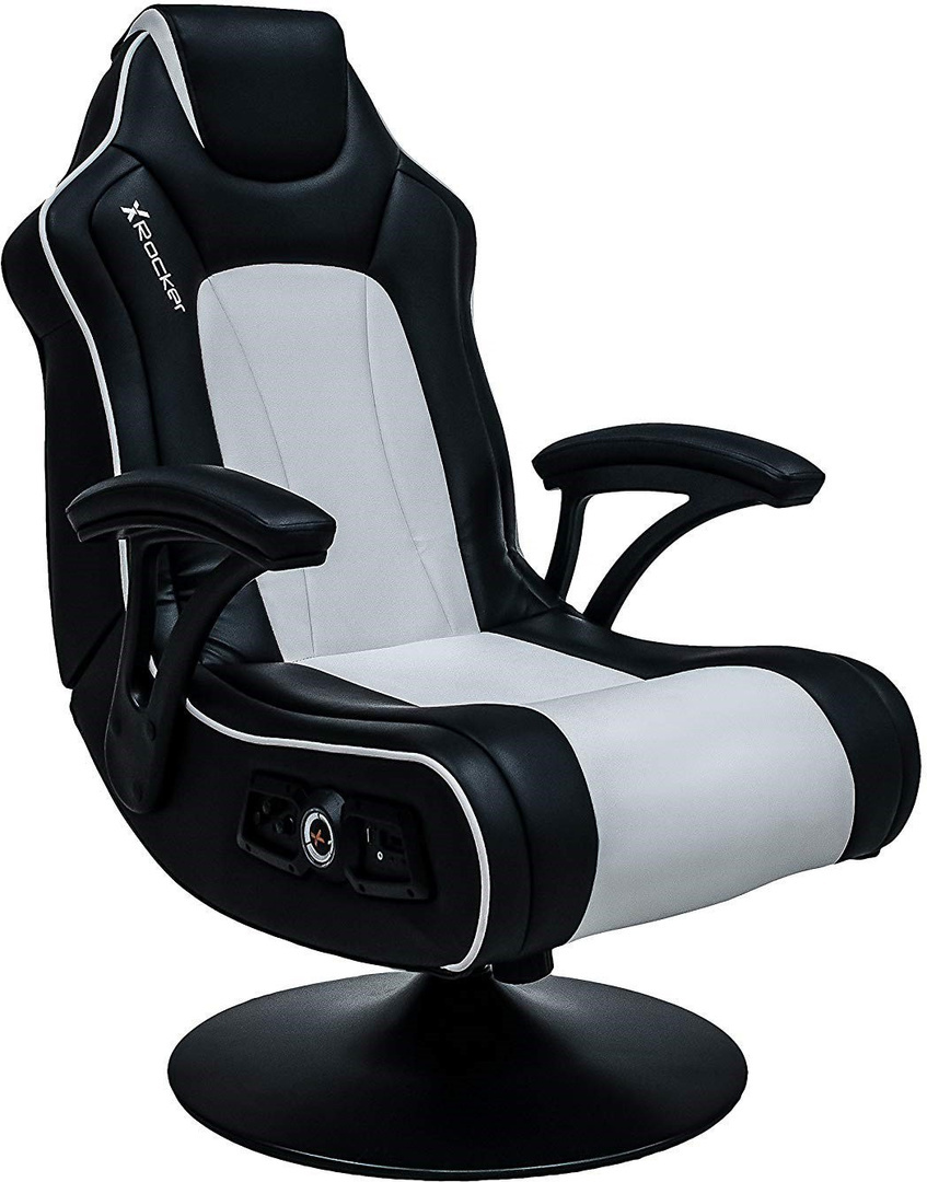 Stupendous X Rocker Torque Gaming Chair 2 1 Black White Gamestoel Pabps2019 Chair Design Images Pabps2019Com