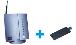 Hercules WiFi Modem Router + USB WiFi Key Annex A