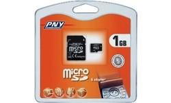 PNY MicroSD 1GB + 2 adapters