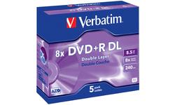 Verbatim DVD+R DL 8x 5pk Jewel case