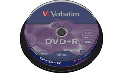 Verbatim DVD+R 16x 10pk Spindle