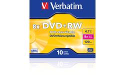 Verbatim DVD-RW 8x 10pk Jewel case