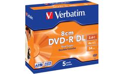 Verbatim DVD-R DL 8cm 8x 5pk Jewel case