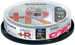 Fujifilm DVD+R 16x 10pk Spindle