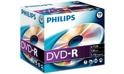 Philips DVD-R 16x 10pk Jewel case