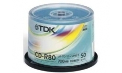 TDK CD-R 52x 50pk Spindle