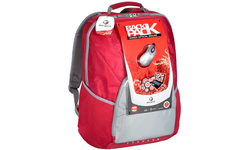 """Targus XL Laptop Backpack 17"""" Red/Grey + Wired Optical Mouse"""