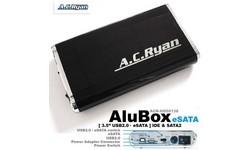 "AC Ryan AluBox Fan SXilence 3.5"" USB2 Black/Silver"